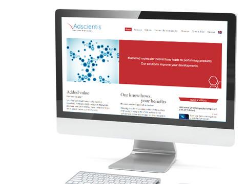 Réalisation du site d'Ascientis
