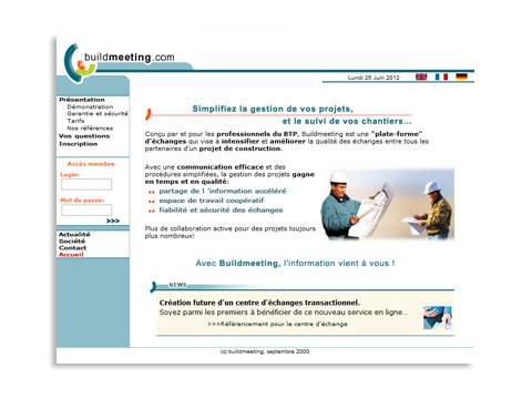 Réalisation du logo et du design pour le site buildmeeting.com